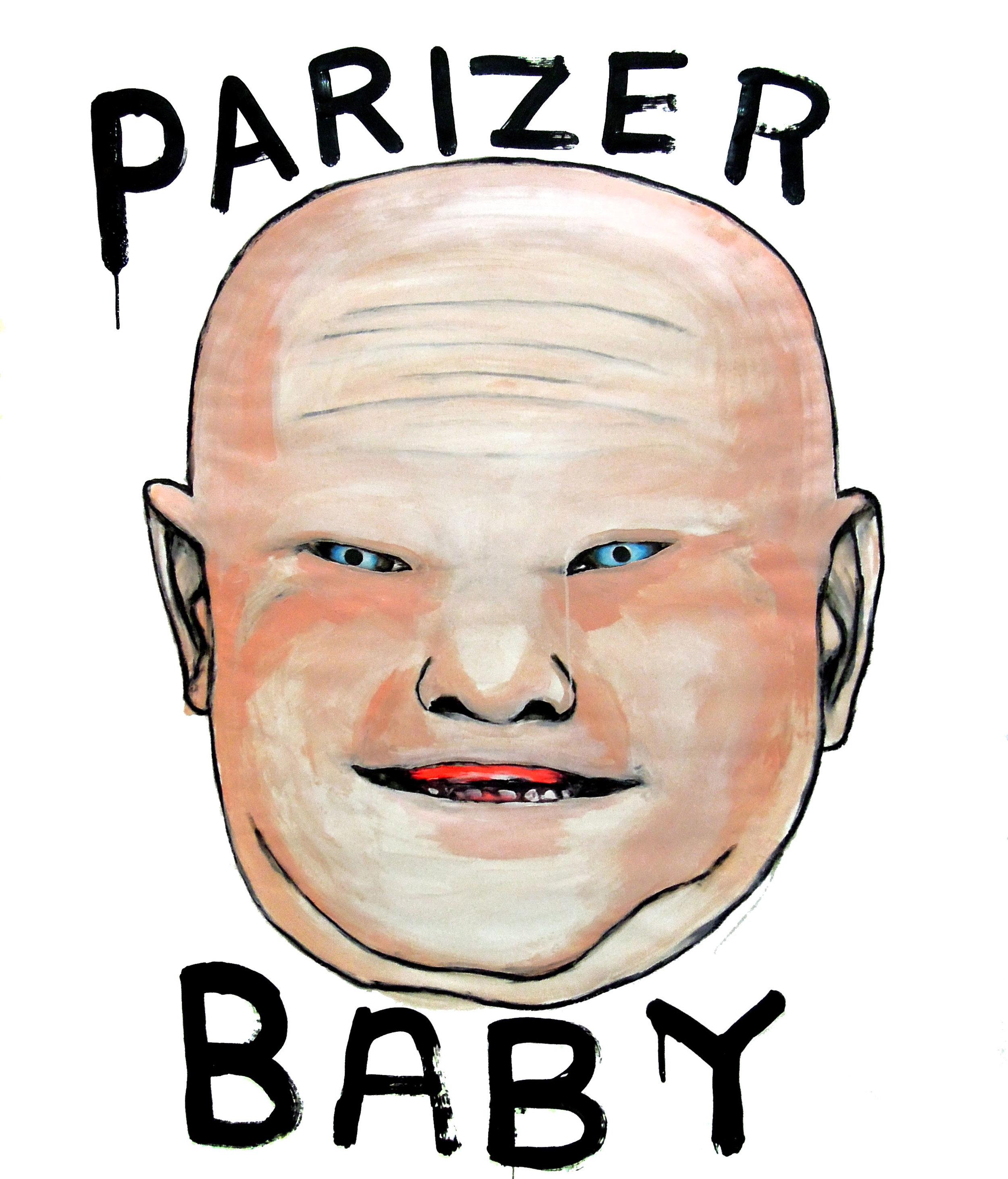 """""""PARIZER BABY, 1,5 x 1,2 m, acrilic și pastel pe hârtie, 2015"""