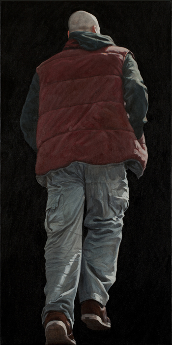Nobody 11, 2011, tempera and oil on canvas, 60 x 30.jpg