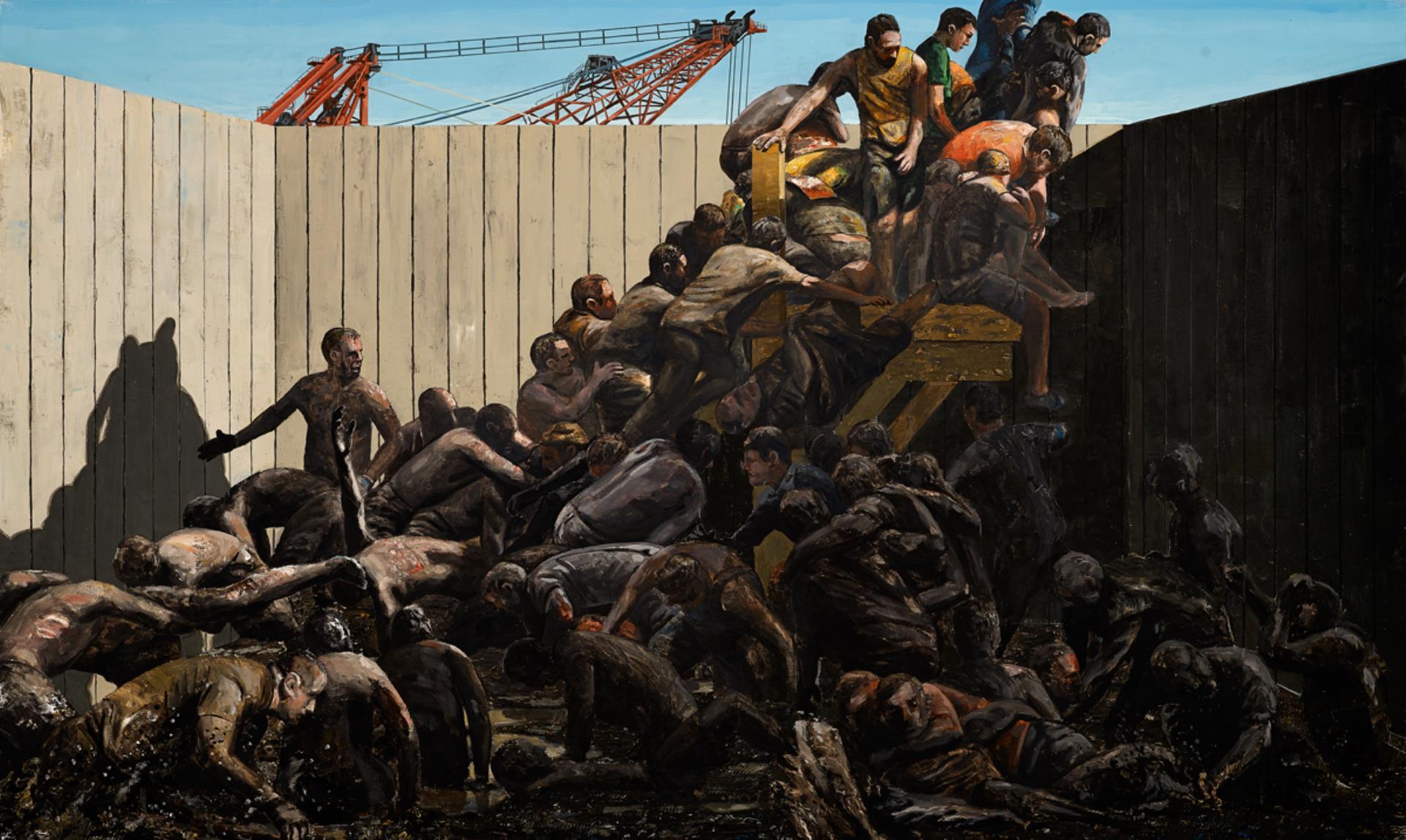 Climb Out of Mud , 2015, acrylic on canvas, 120x200 cm