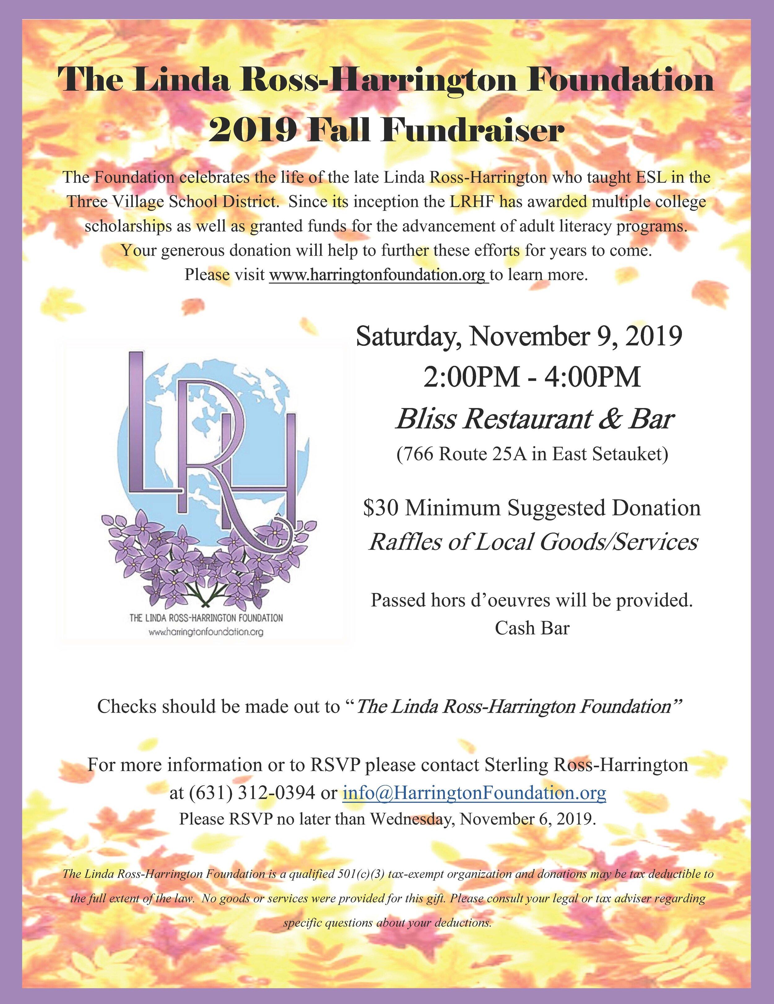 LRHF Fall 2019 Fundraiser Flyer.jpg