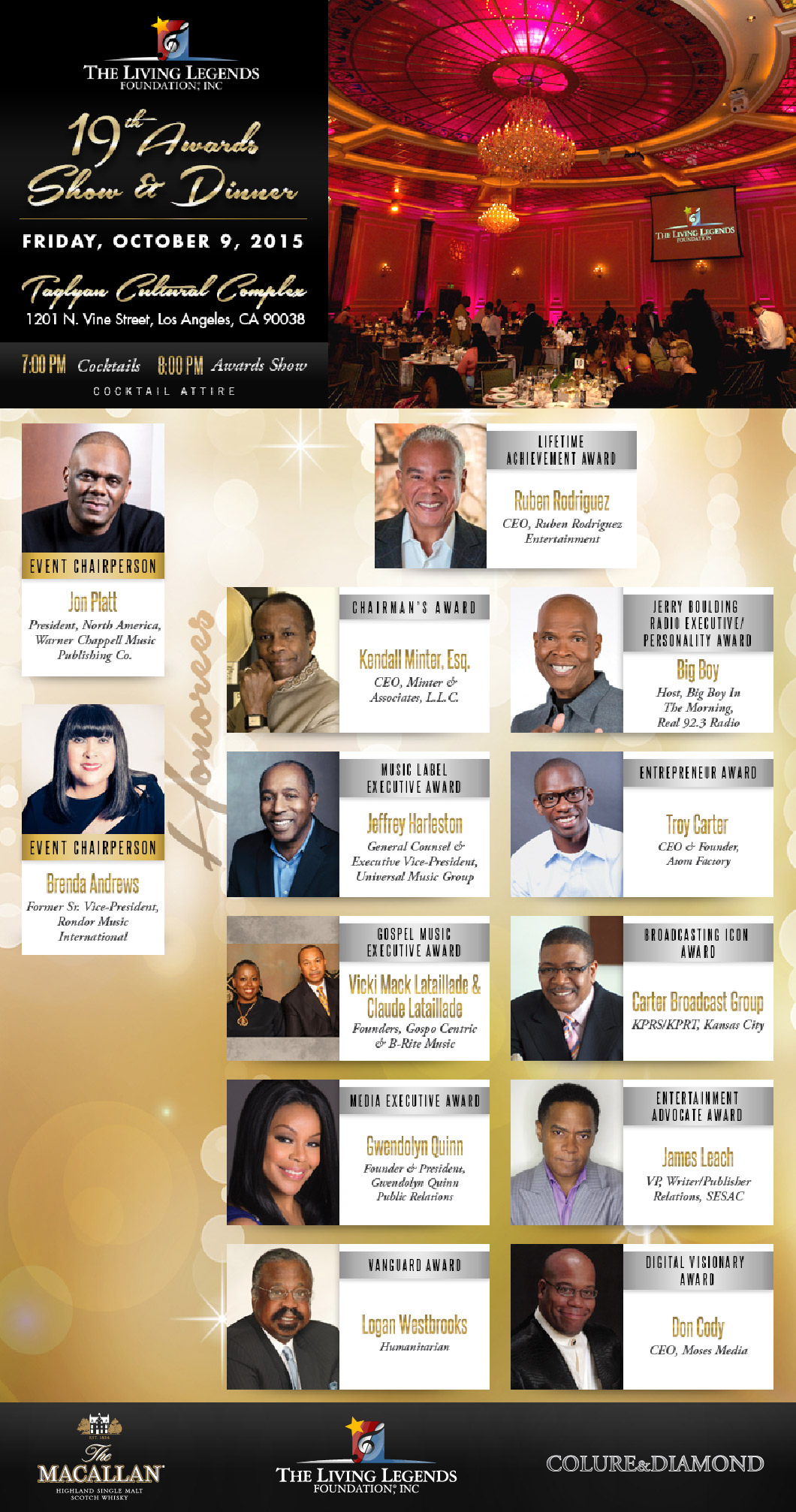 The Living Legends Dinner  Assisted by Colure and Diamond