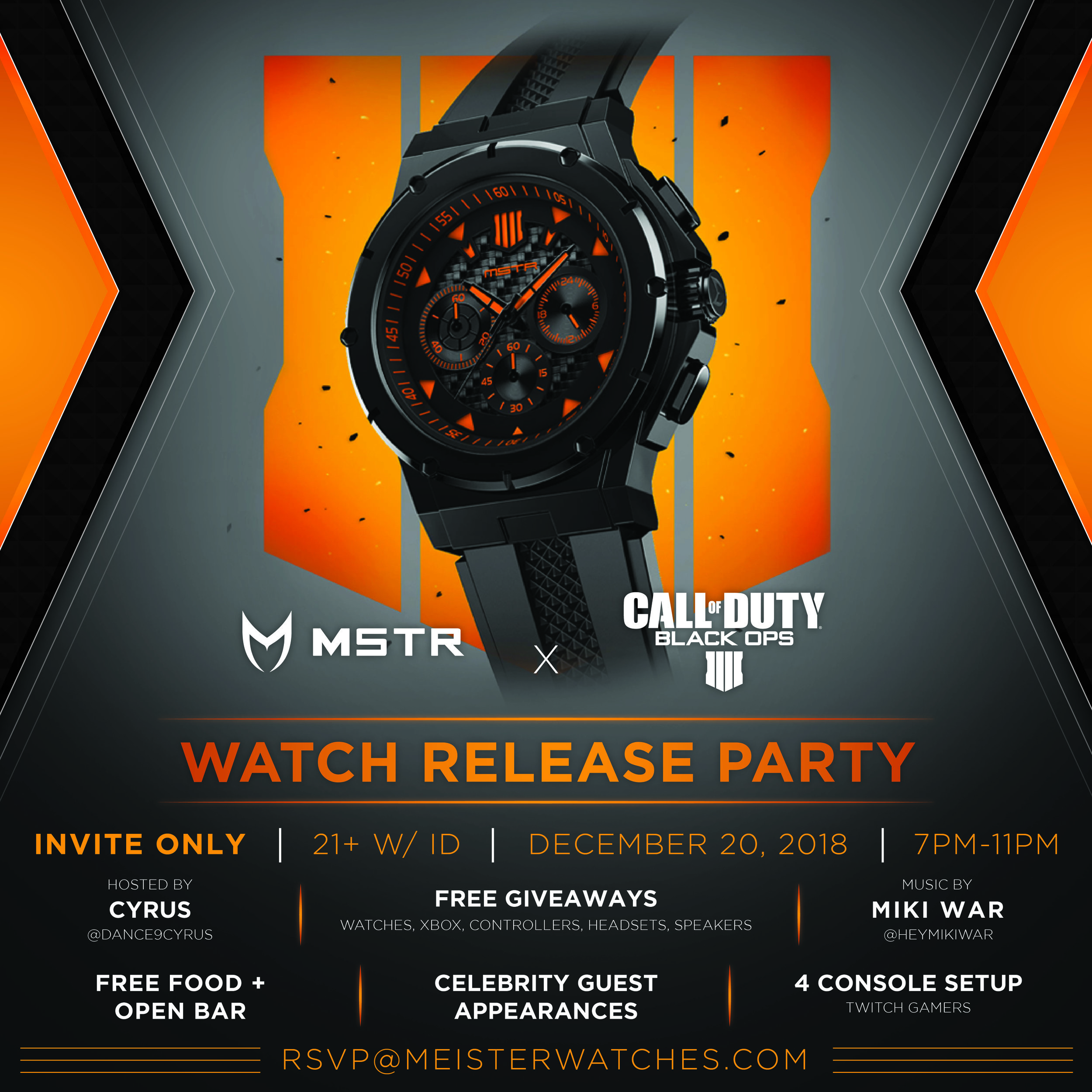 Call of Duty x Meister Pop-Up    December 20, 2018    Meister, Activision, Bose Professional, and Colure and Diamond
