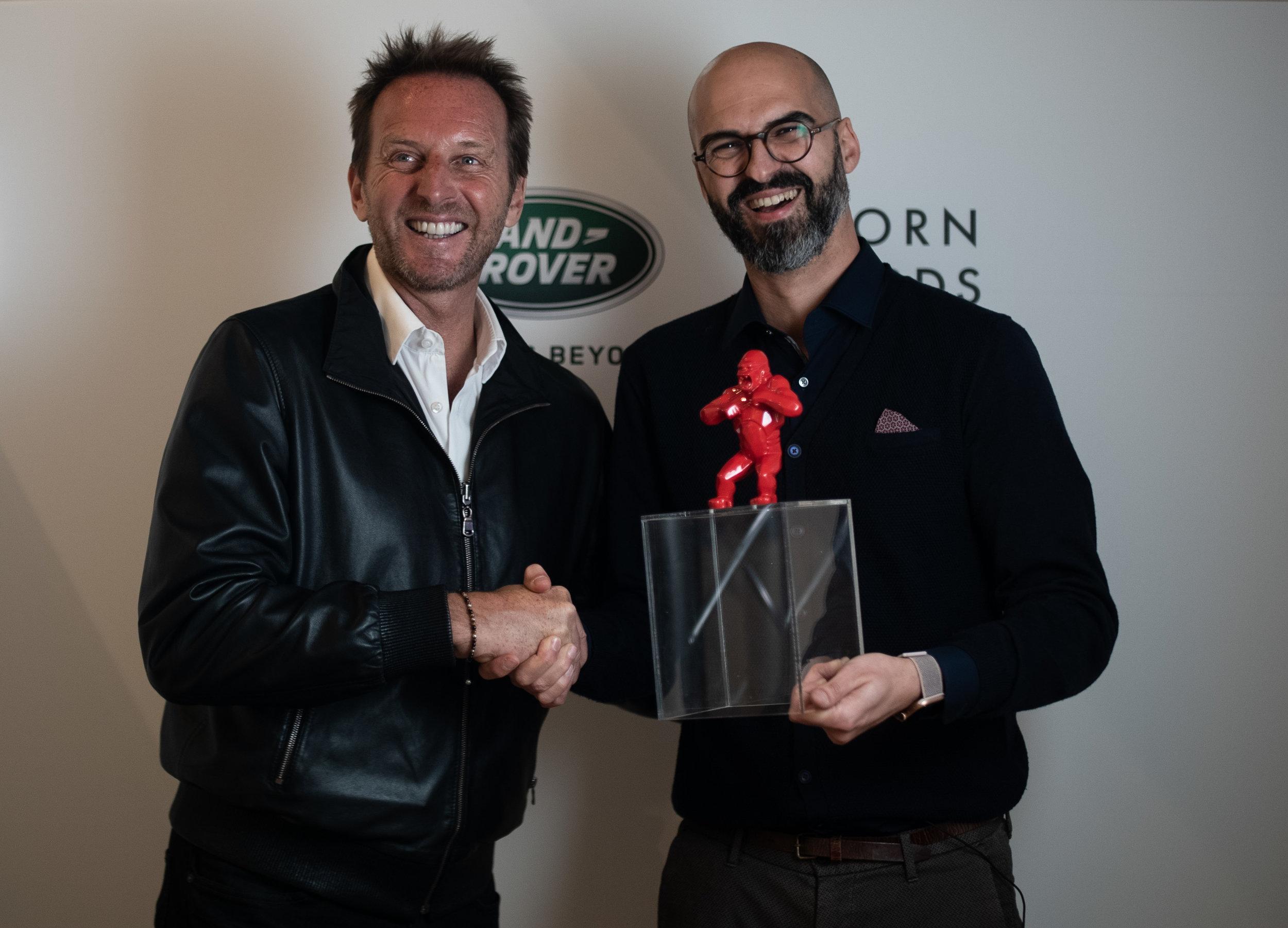 BORN Awards founder  Jean-Christophe Chopin & Xavier Mora  creative director at Livingthings & BAG Disseny STUDIO