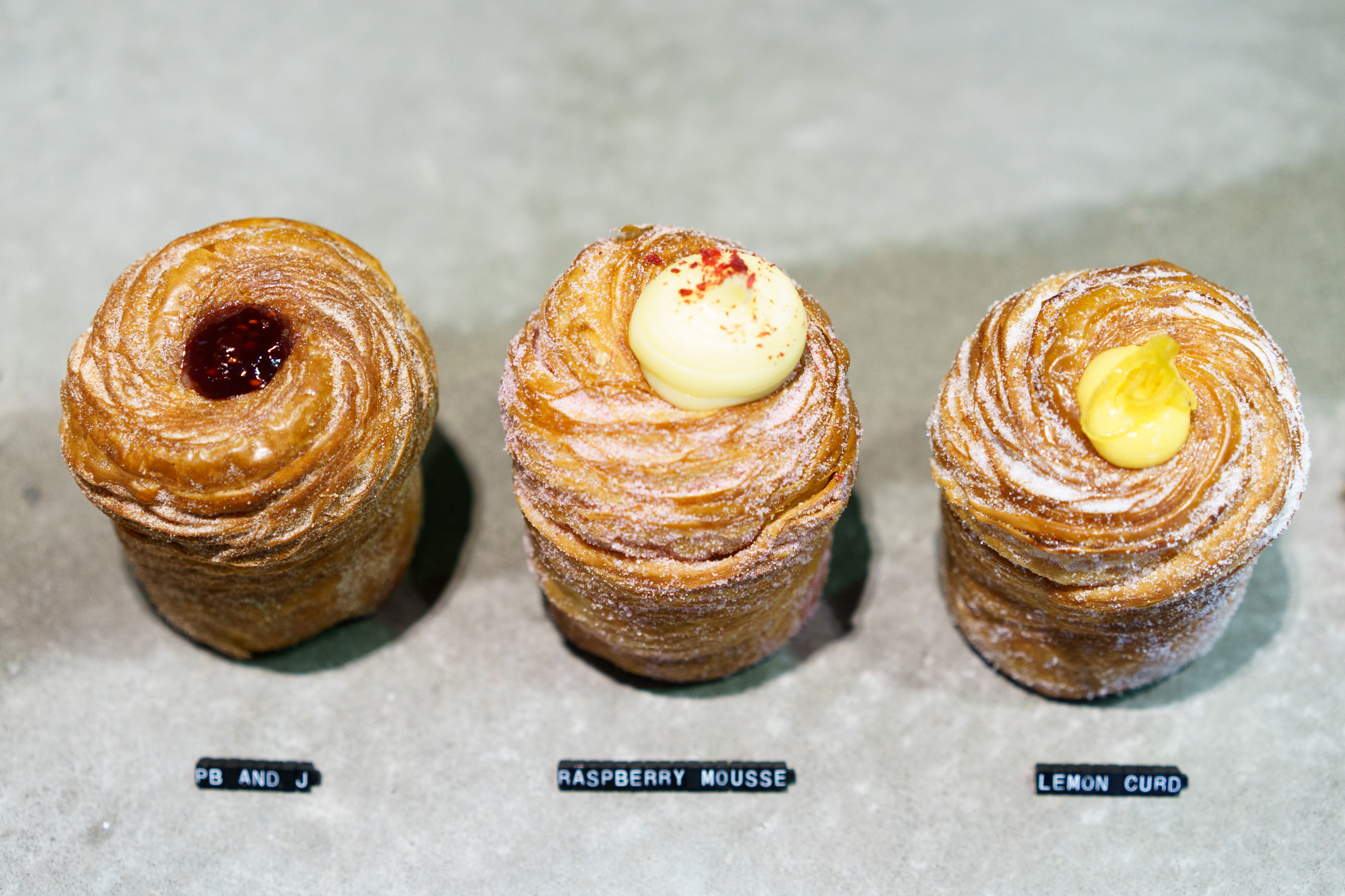 Cruffins also feature.
