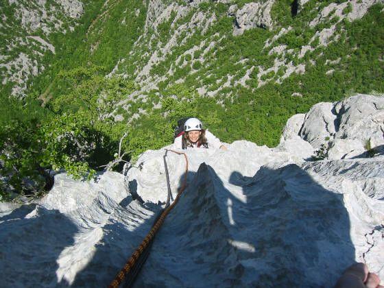Cimbing Velebetaski a multipitch climb in Croatia