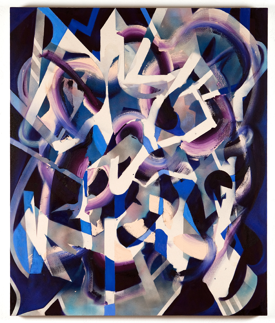 All I wanna do is go boom boom boom , 2013 50 x 60 inches oil and spray paint on canvas