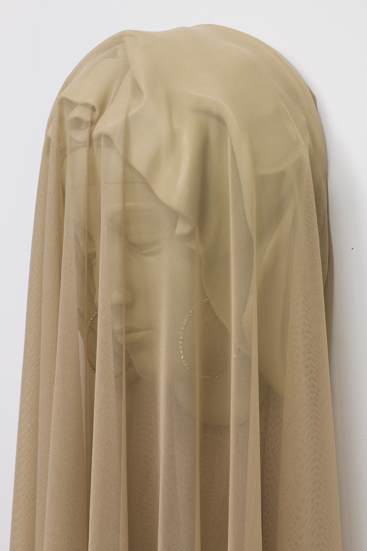 Shroud ( detail), 2017 nylon, acrylic, earrings