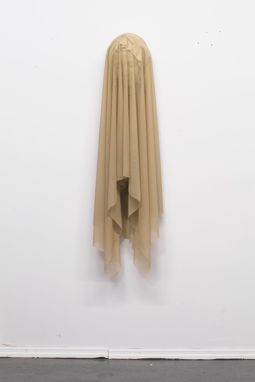 Shroud, 2017 nylon, acrylic, earrings 13 in x 53 in