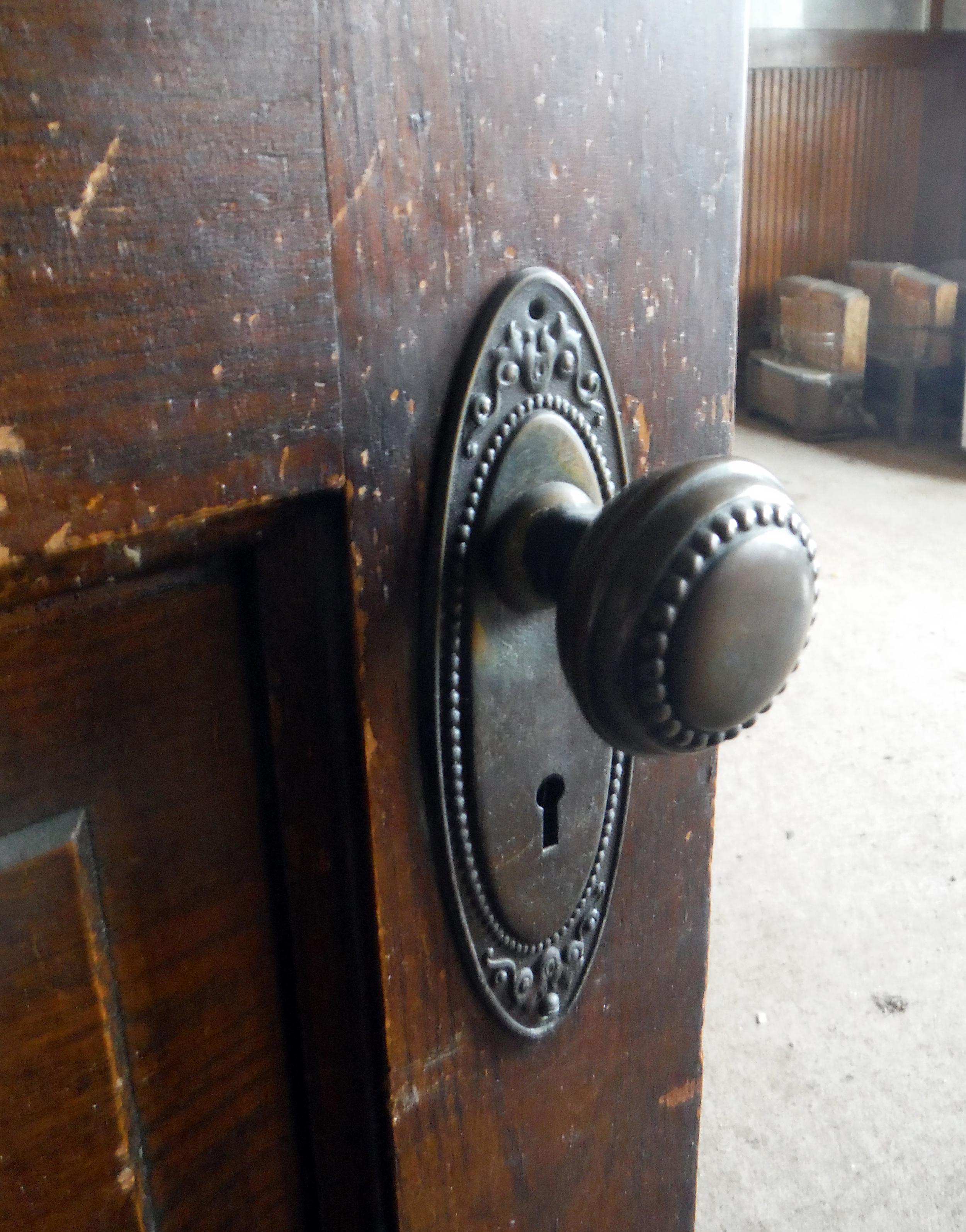 Original doorknob. Photo by Sydney Haltom, March 2015.