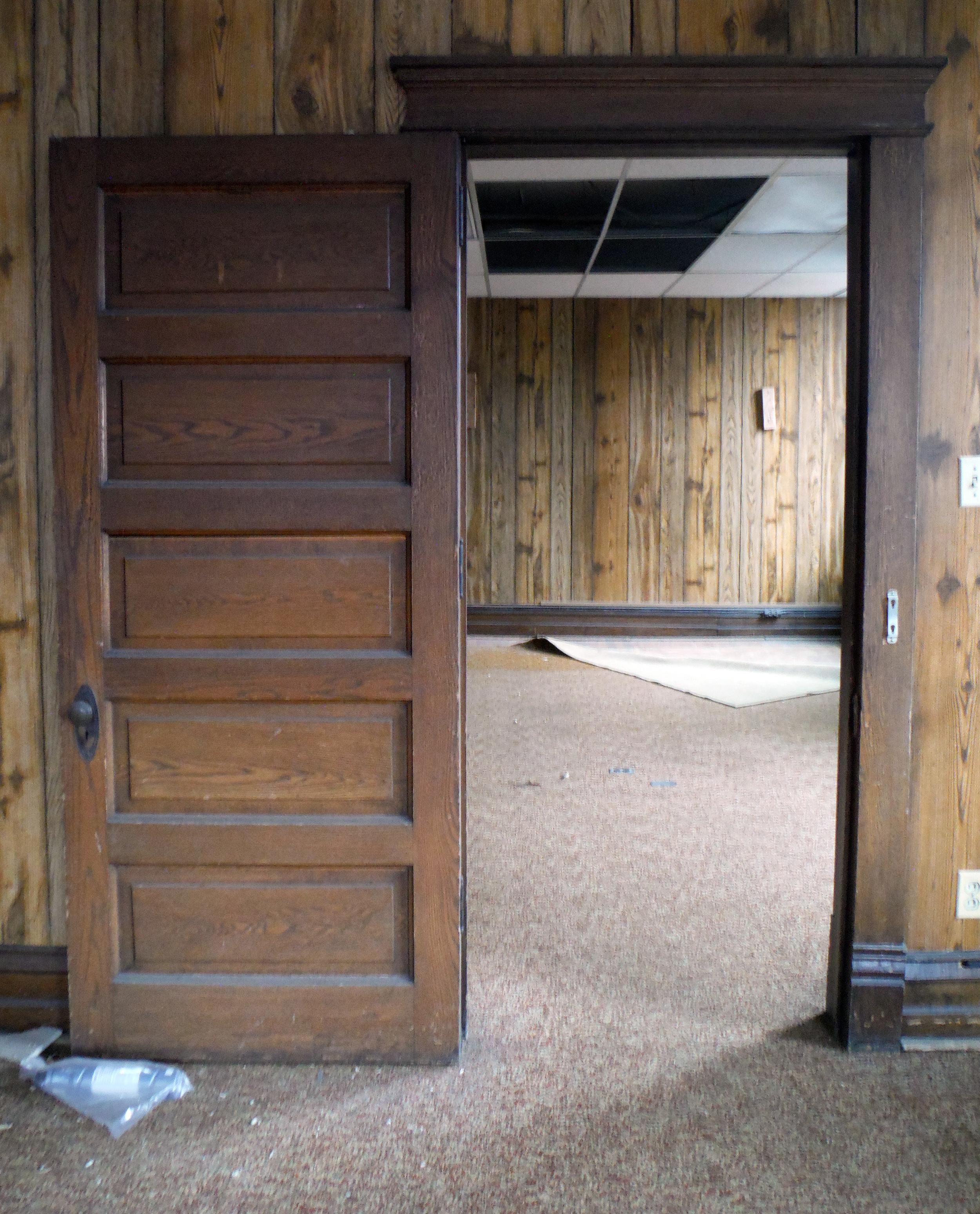 Second floor doorway. Photo by Sydney Haltom, March 2015.