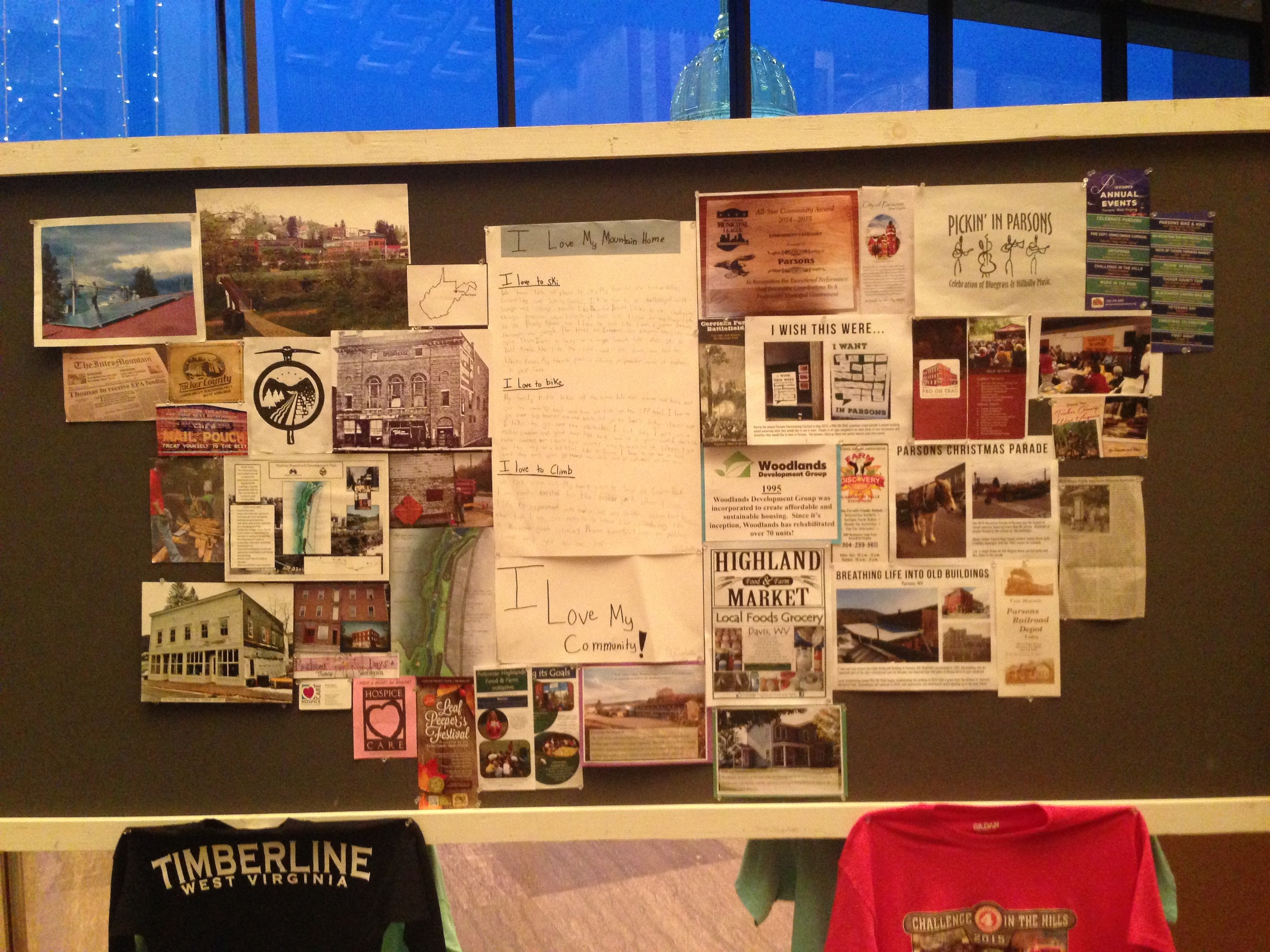Displays like this one showcased the many businesses, organizations, and events in Tucker County.