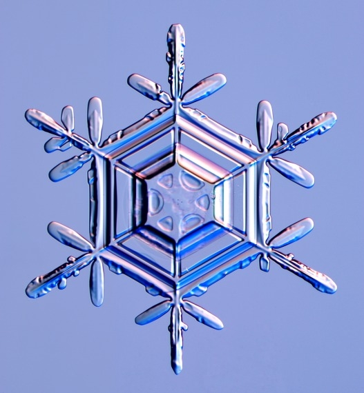 Snowflake crystal image via the Internet
