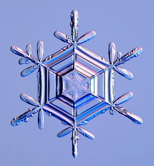 Snowflake crystal image via the Internet