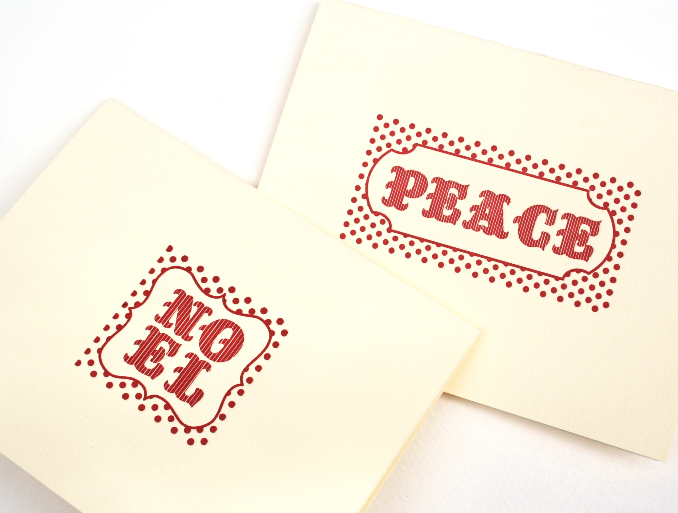 Our holiday letterpress notecards were featured on the Wedding Lovely blog in December of 2013.