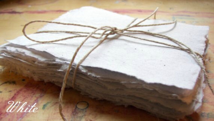 White Recycled Hand Made Paper