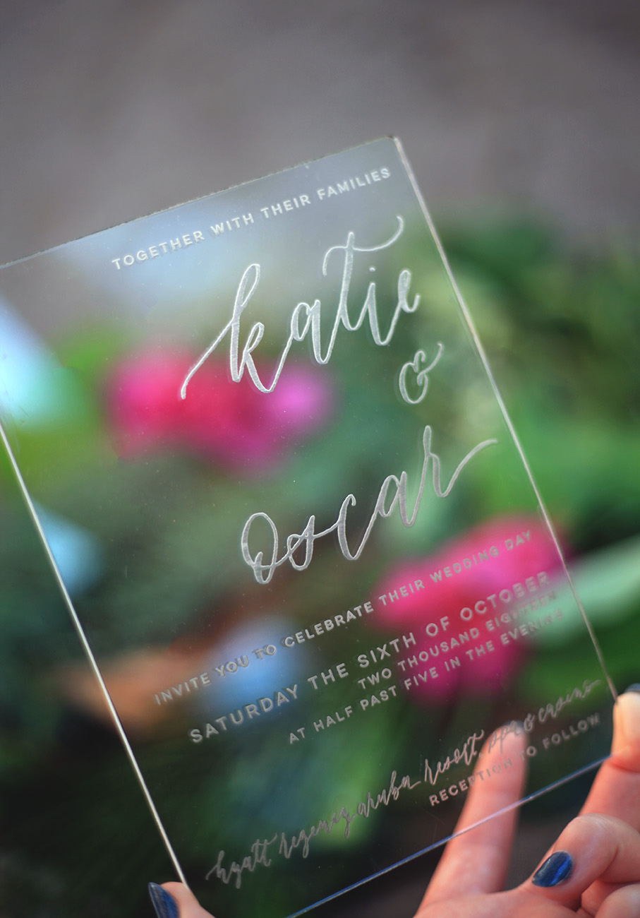 Clear Acrylic Wedding Invitations