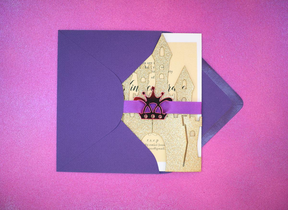 Castle Fairytale Theme Invitation for Wedding or Birthday