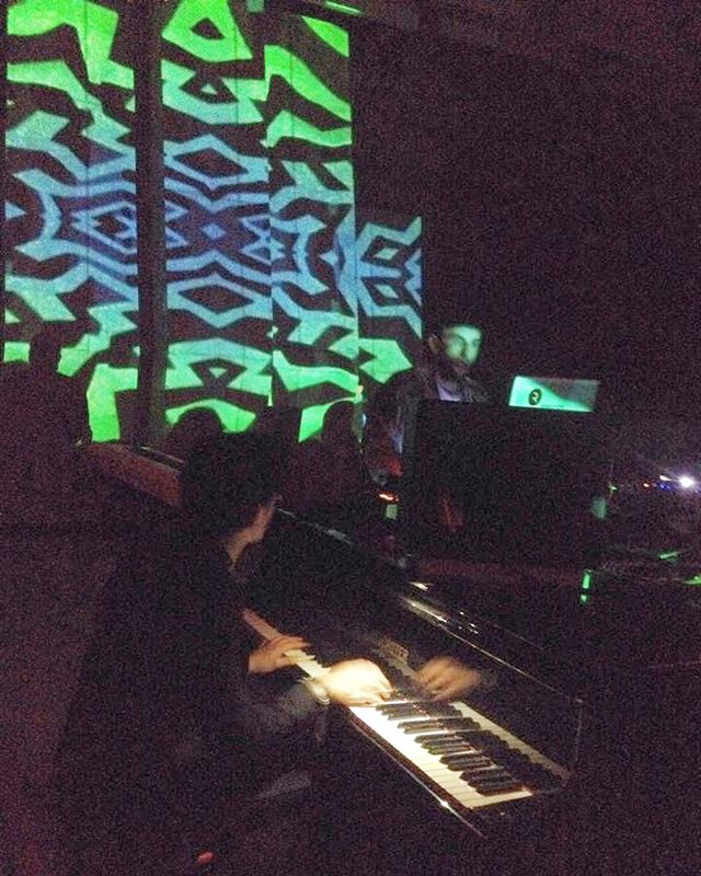 What we did in #yerevan last night... Video art, performances by @furtheburds @oliverklostermann @jacobgroening and @marklando.ru - combining film art, visual art, electronic music, and then little old Chris playing some Wagner which morphed into a half hour improv set with producer @vansarkissian for @hassfest. Enough tags.  #music #berlin #basel #armenian #edm #house #classical #film #sleep