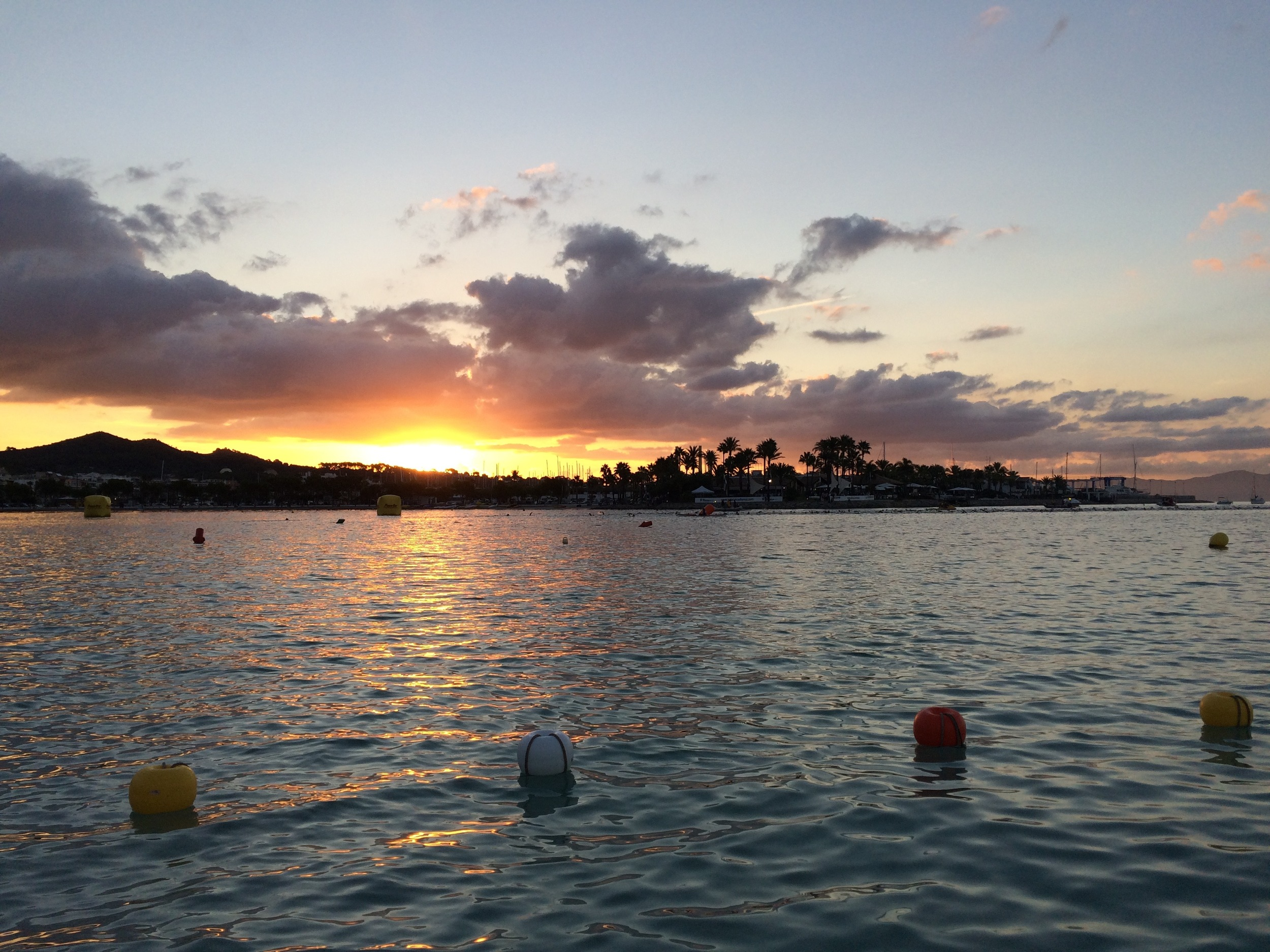 Race morning. 2.4 mile swim, watching the sun rise with every breath. And the day only got better.