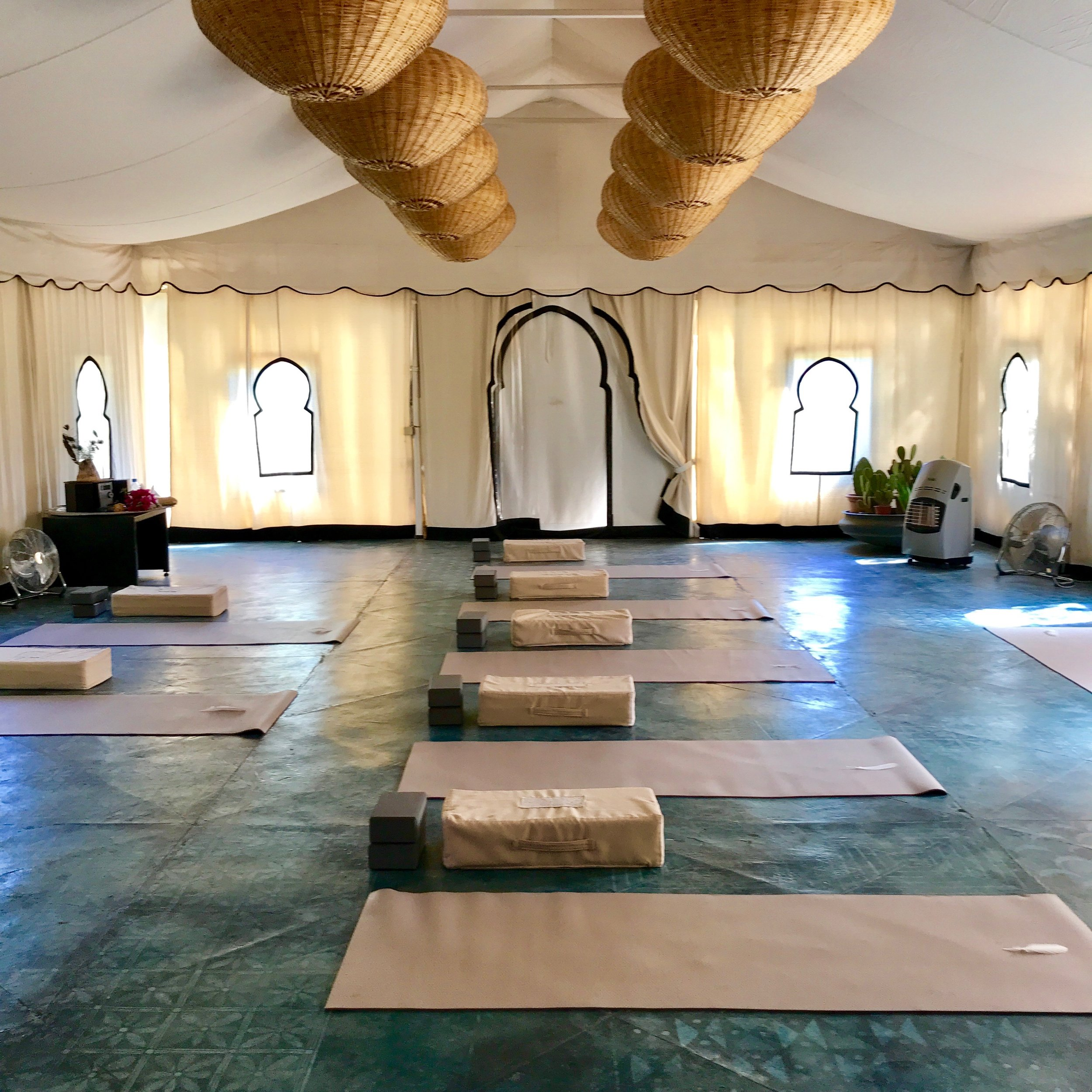 The Yoga Tent at Peacock Pavillions