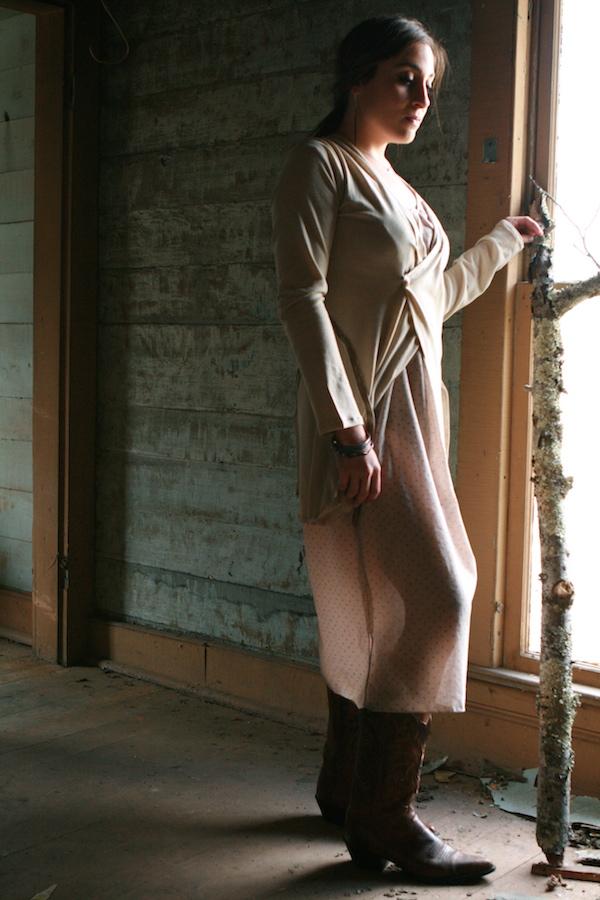 penny cardigan over dress.JPG