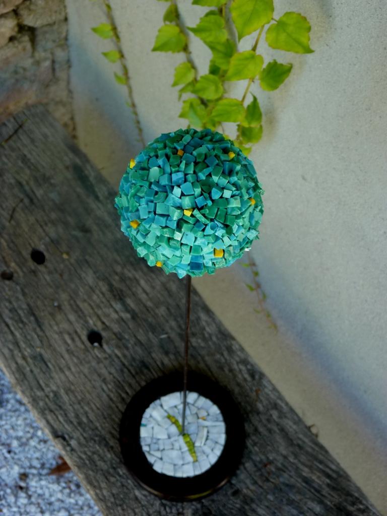 Smalti // marbre // métal 50 cm
