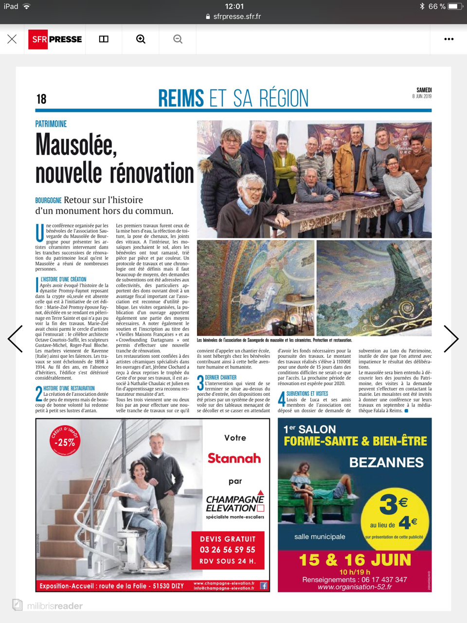 Article L'Union - juin 2019.PNG