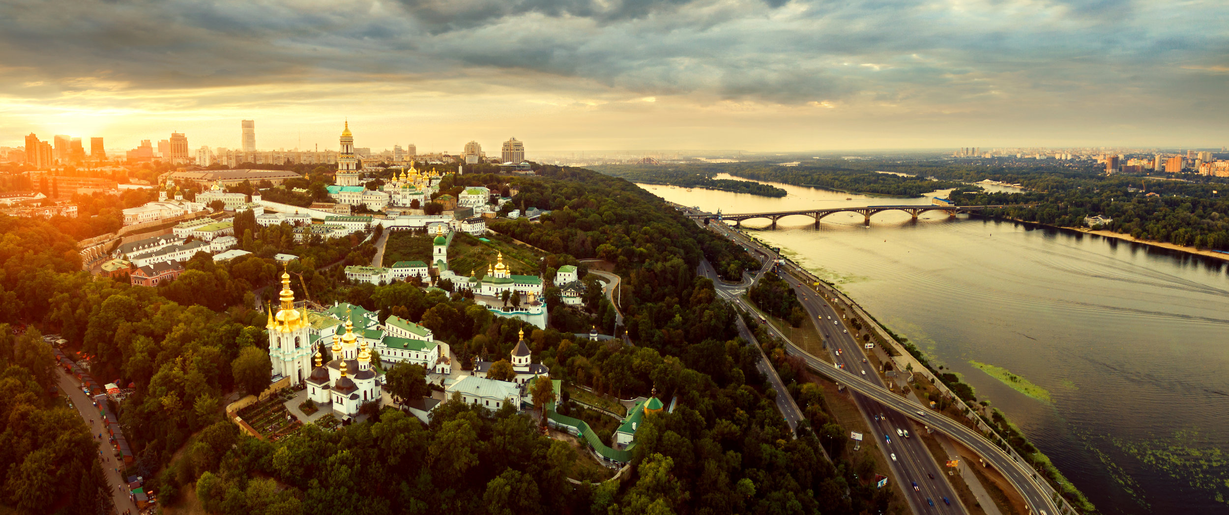 Kiev Aerial View of the city
