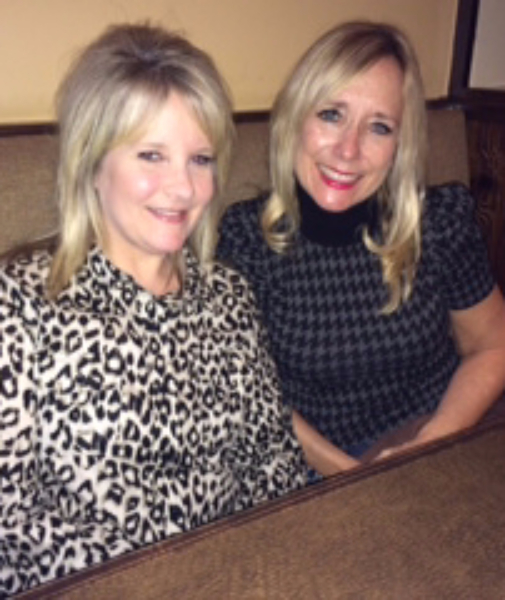 Robin McCain (right) with her friend,   Karey Albaugh