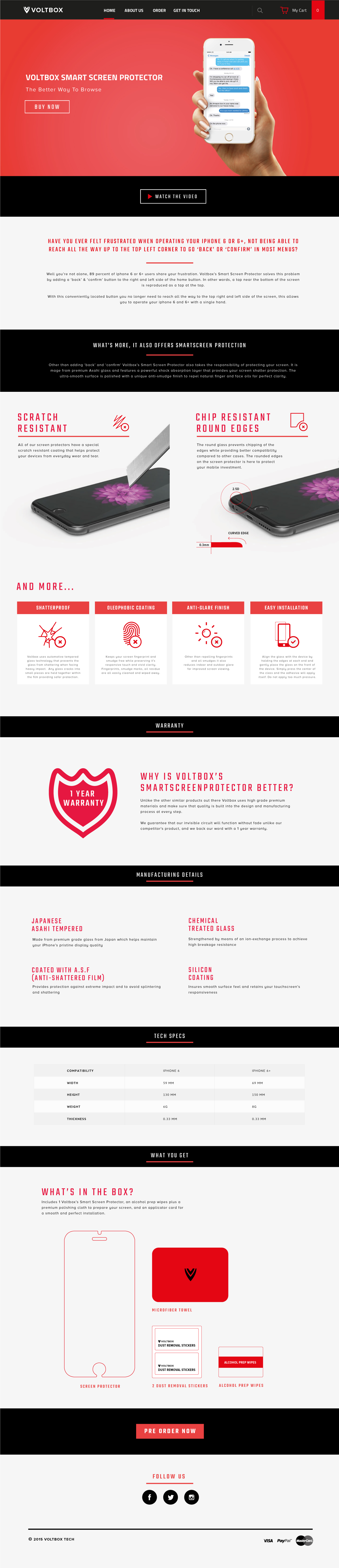 Voltbox Website Design