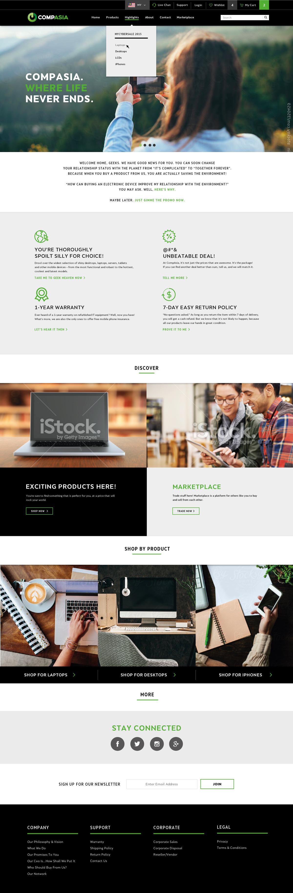 CompAsia Website Design