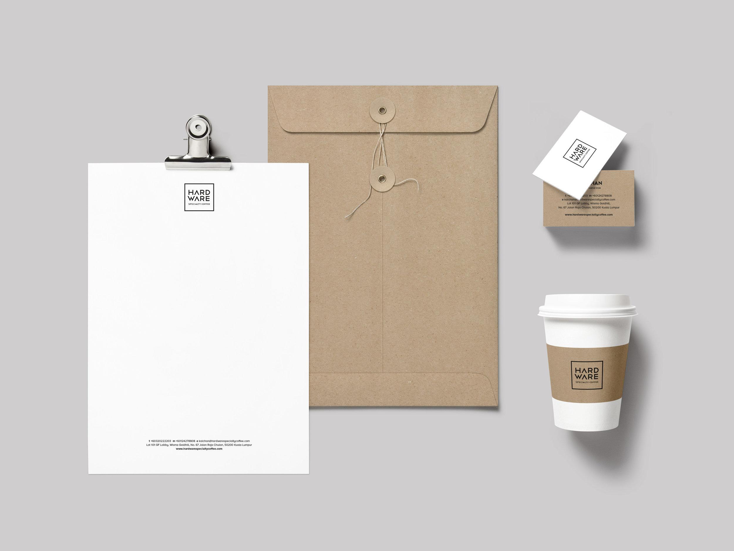 02 Hardware Coffee Branding Identity-Design-Namecard-letterhead-envelope-cup design.jpg