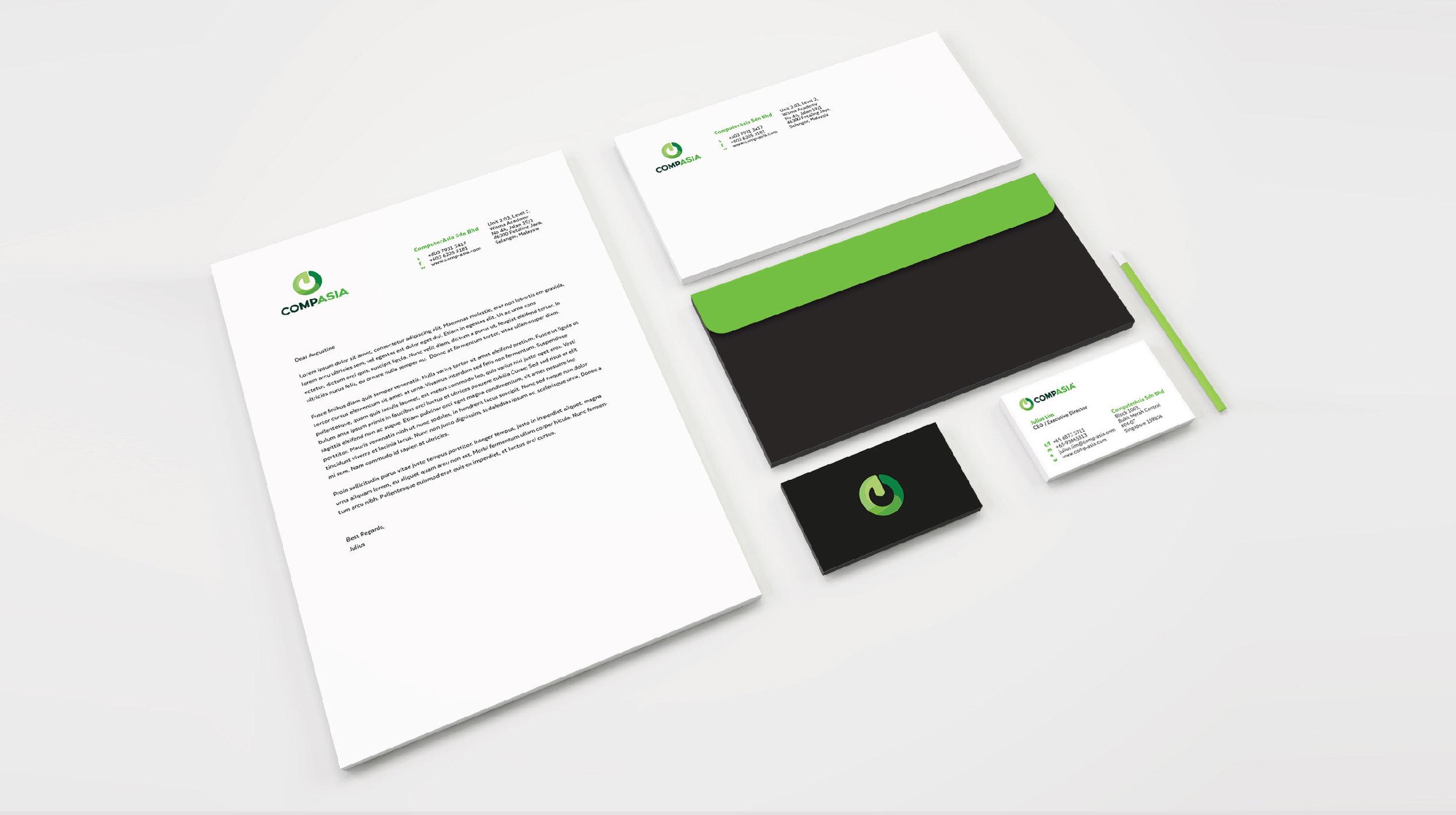 Corporate Identity Logo Branding Namecard Letterhead Envelope