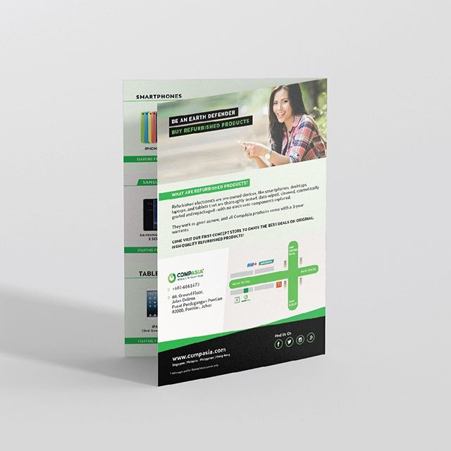 Back view: Brochure design as part of the branding exercise for our Go green client. Got a design request? Contact details in bio 🌿 . . . #spaceacestudios #earthday #graphicdesign #graphicdesignmalaysia #gogreen #buyrefurbished #ecofriendly #throwbackthursday #design #designinspiration #inspofinds #branding #brandingmalaysia #graphicdesignaustralia #graphicdesignworldwide #colour #type #art #instagood #graphicdesignagency #graphicdesignstudio #graphicdesignagencymalaysia #typography #welovegraphicdesign #welovebrochures #adobeillustrator #designinspiration