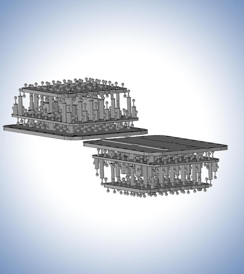 Model 820 Configuration, interior detail, modules separated