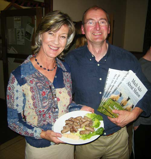 David and Helen Pickersgill of Weobley Ash Farm, Herefordshire with their Moroccan spiced sausages.