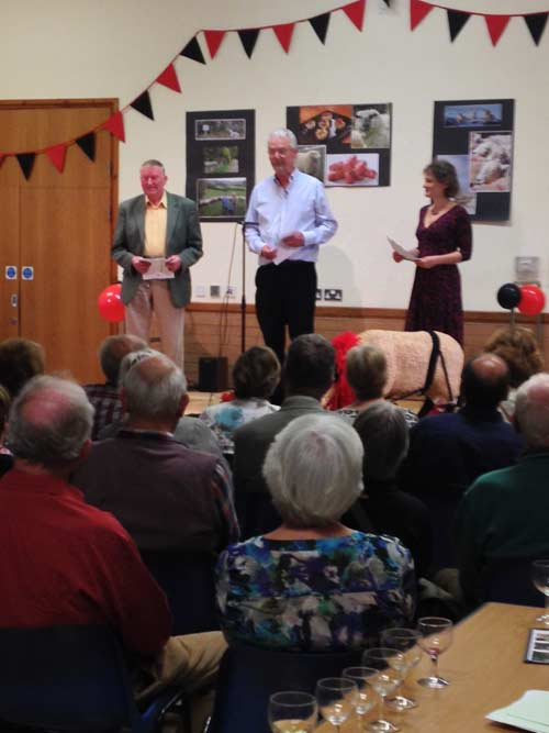 Mike Reynolds, Bob and Carolyn Kennard reading from Much Ado About Mutton