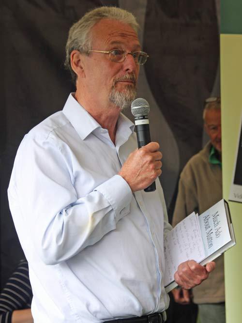 Bob Kennard talking at Ludlow Food Festival
