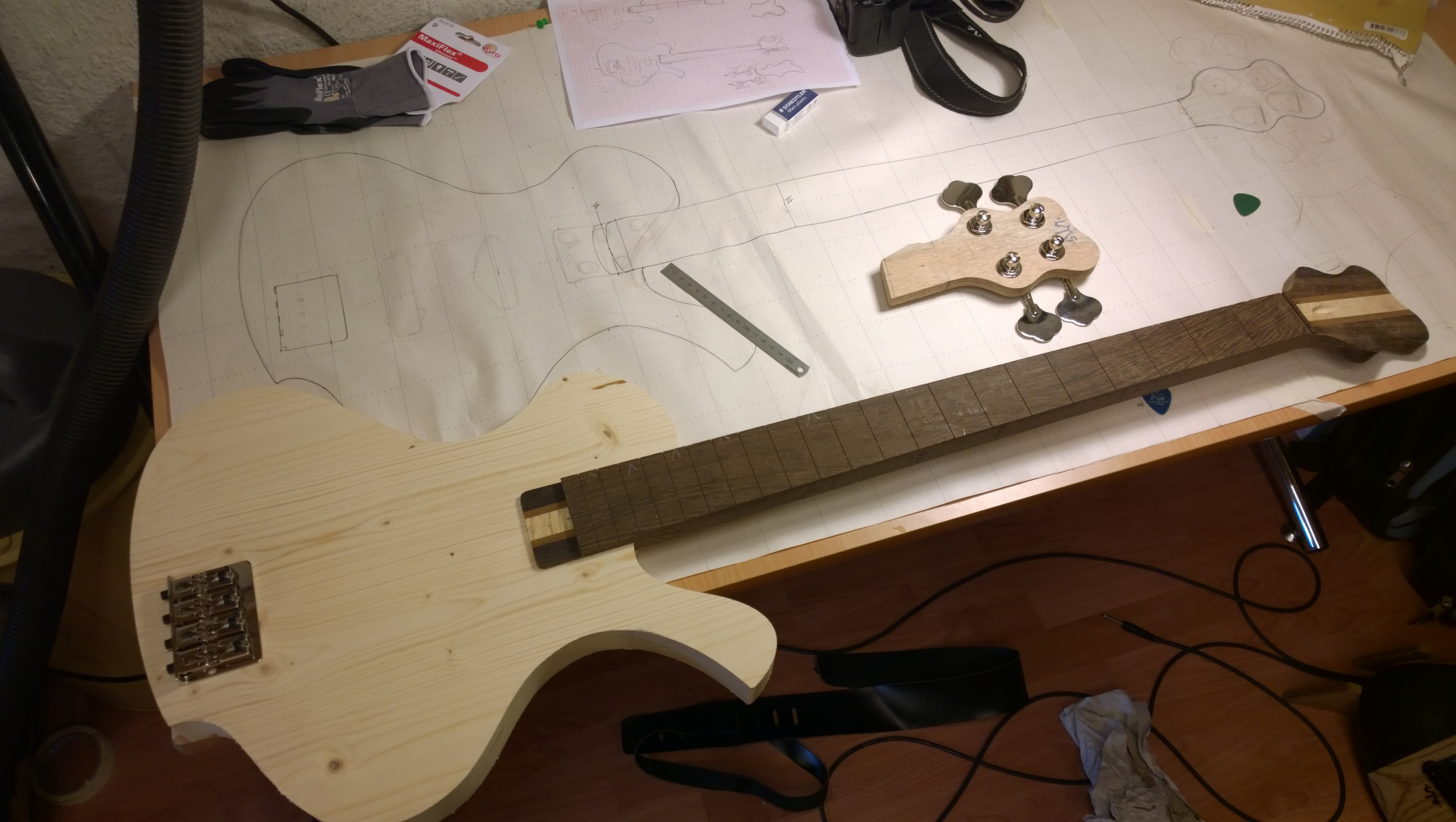 The raw body block and neck with the final head design