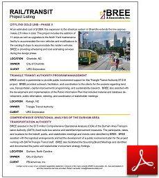Rail/Transit Project Listing