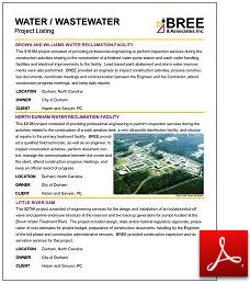 Water/Wastewater Listing