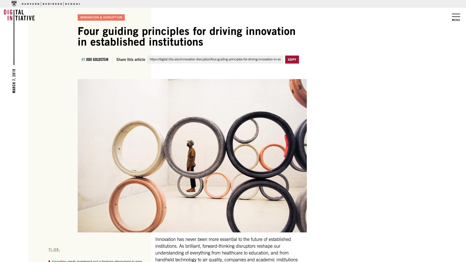 Photography - Digital Initiative by Harvard Business School