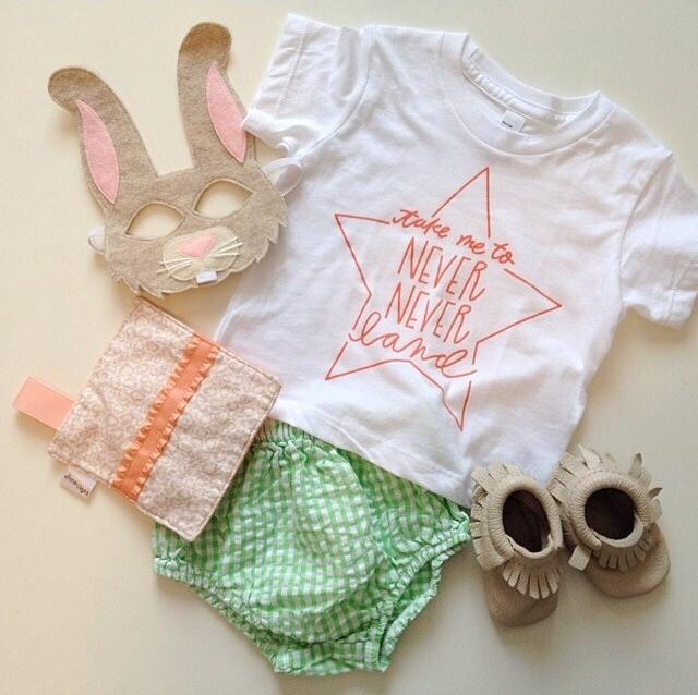 @oppositeoffar outfit inspiration with our Never Never Land Infant Tee
