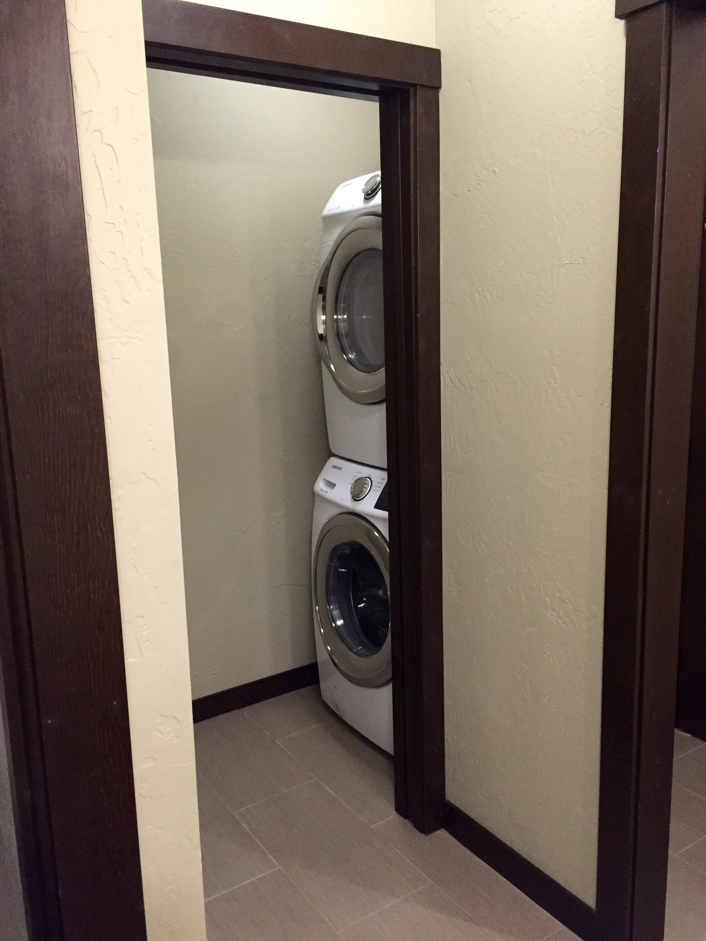 Laundry room for guests