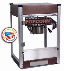 Cineplex Popcorn Machine & 1-case of Popcorn Portion Packs