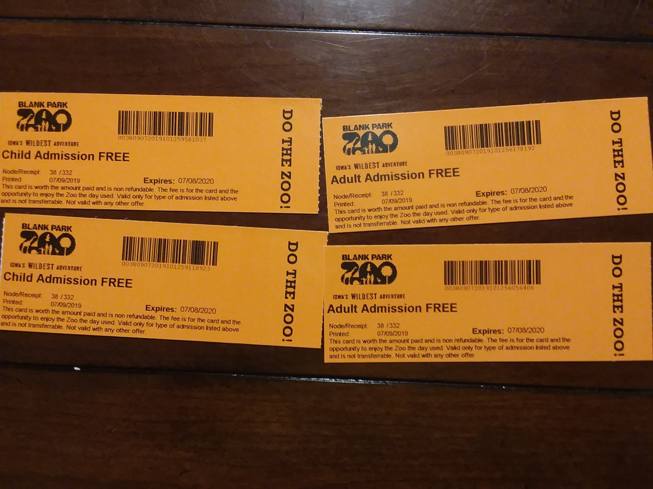 Blank Park Zoo - 4 Passes -