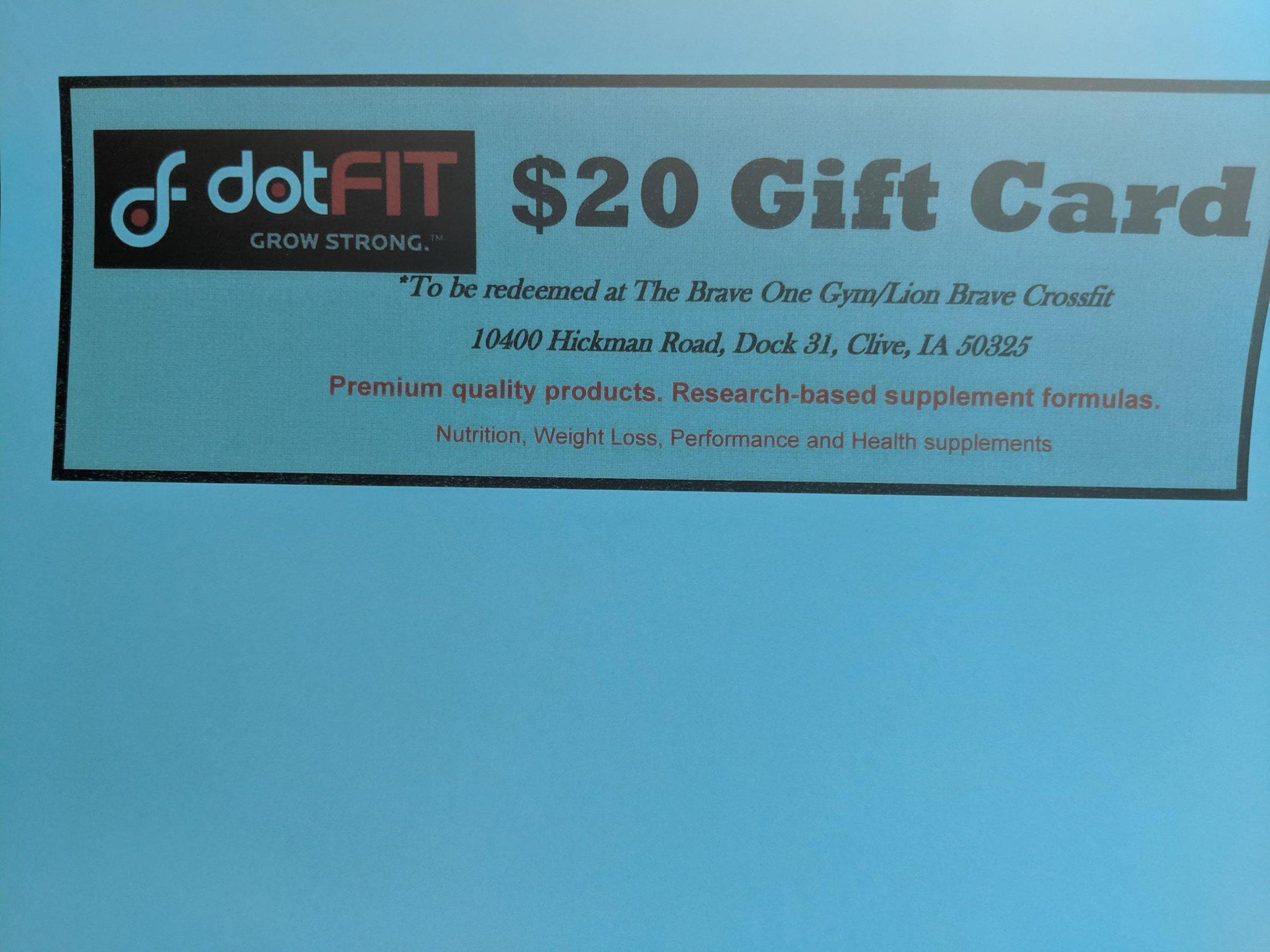 DotFit gift card -