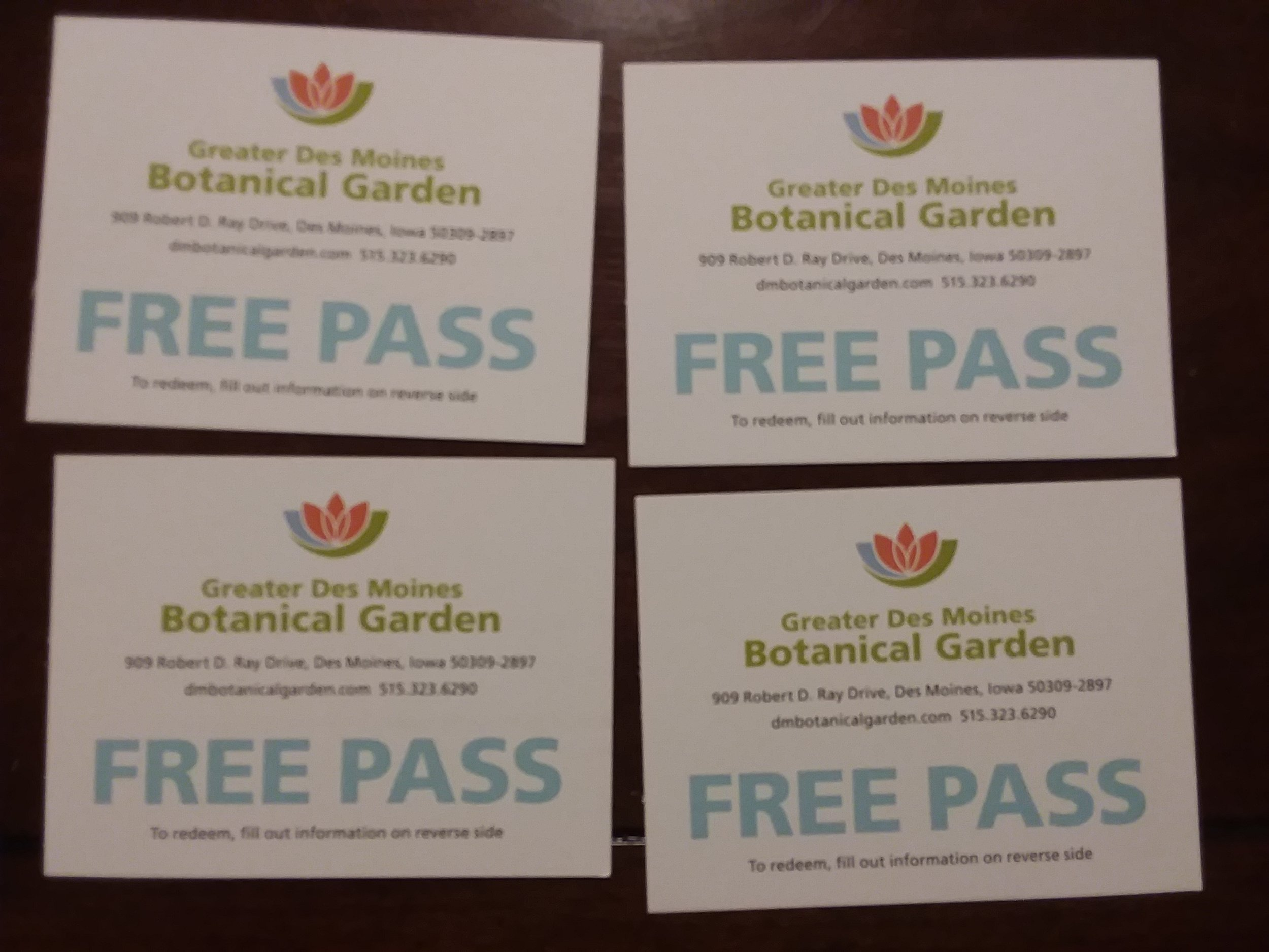 Passes to Greater Des Moines Botanical Garden -