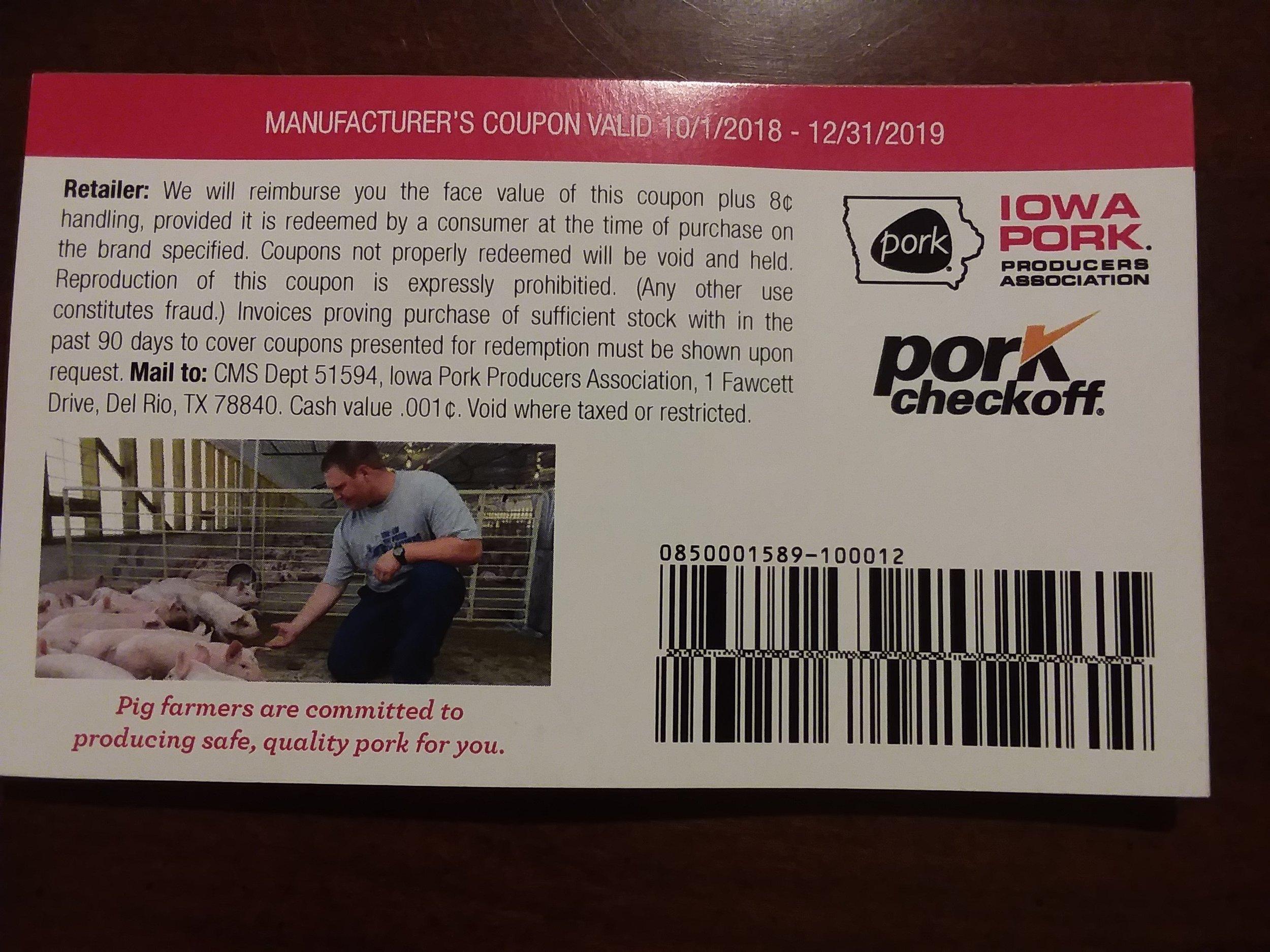Pork coupons -