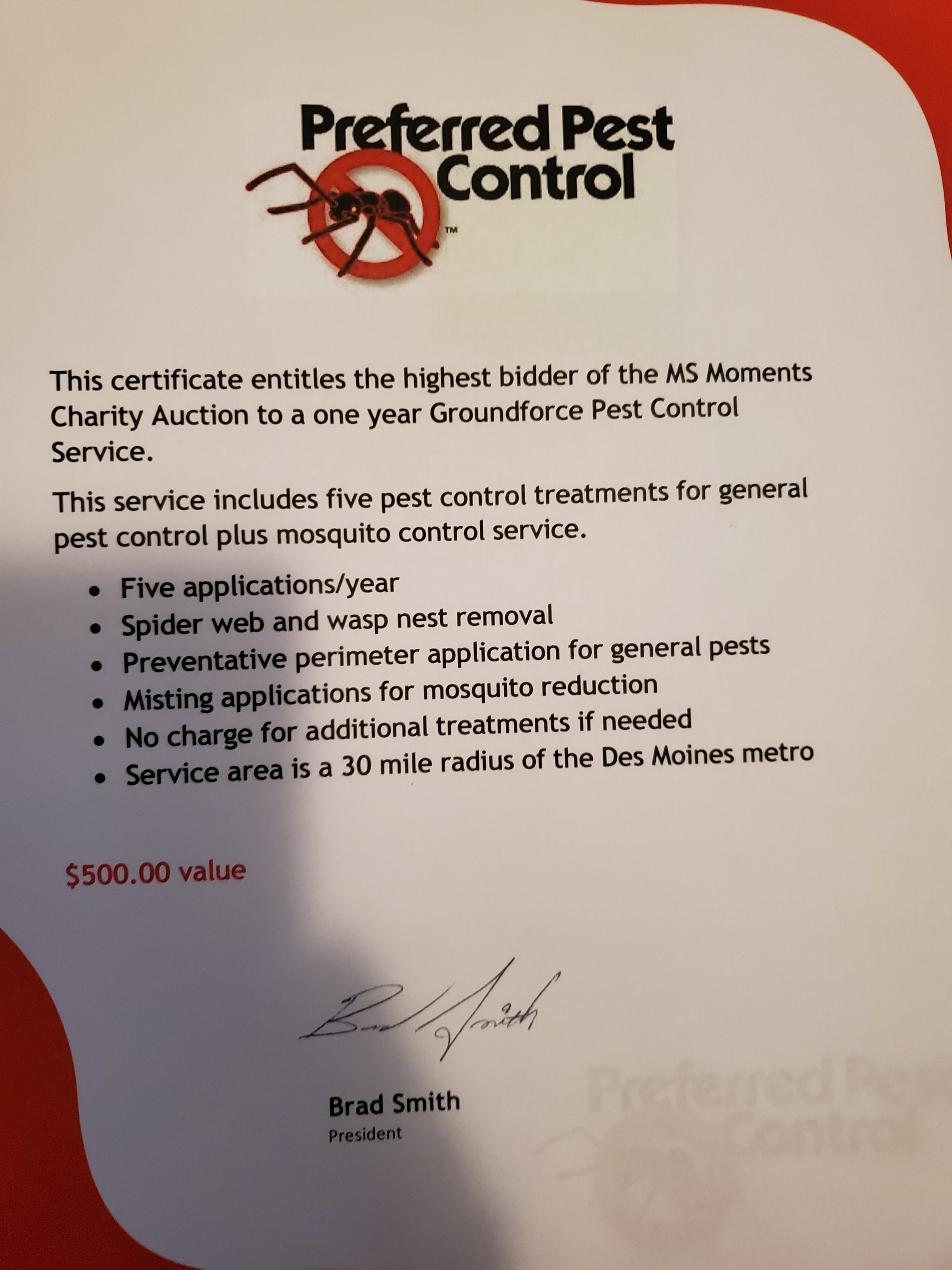 One Year of Groundforce Pest Control Service -